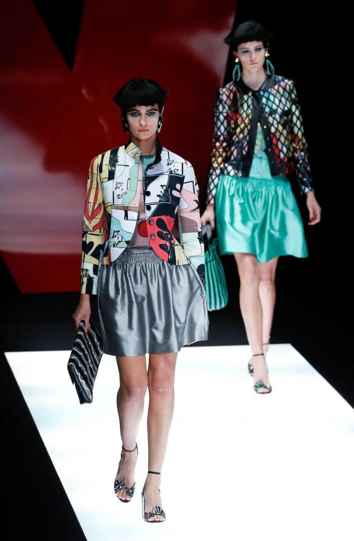 6a266e66c97fa 25 26 - Giorgio Armani - Coleção prim verão 2018 - Semana da Moda de Milão  Foto  Reuters