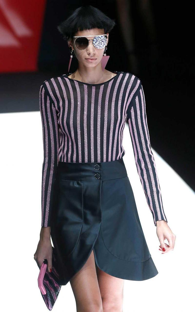 a59e681b4aa61 12 26 - Giorgio Armani - Coleção prim verão 2018 - Semana da Moda de Milão  Foto  Reuters