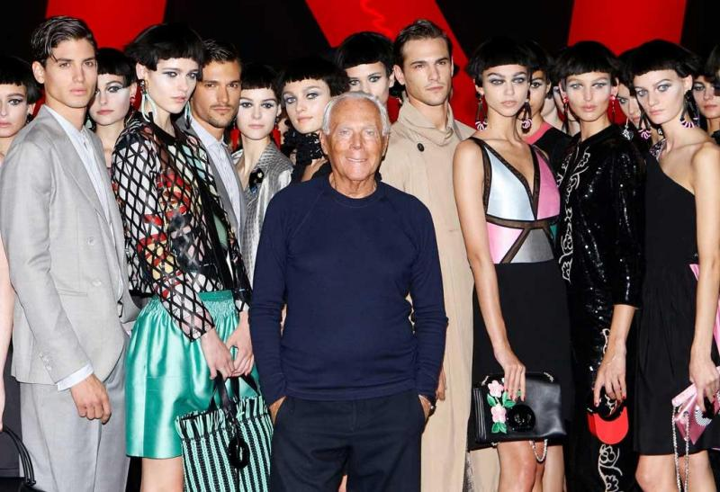 8a6ca375ace30 1 26 - Giorgio Armani - Coleção prim verão 2018 - Semana da Moda de Milão  Foto  Reuters