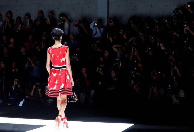 4df3f3c9416e1 7 26 - Giorgio Armani - Coleção prim verão 2018 - Semana da Moda de Milão  Foto  Reuters