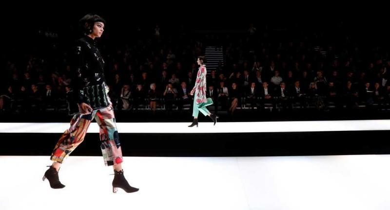 eff06332c1104 5 26 - Giorgio Armani - Coleção prim verão 2018 - Semana da Moda de Milão  Foto  Reuters