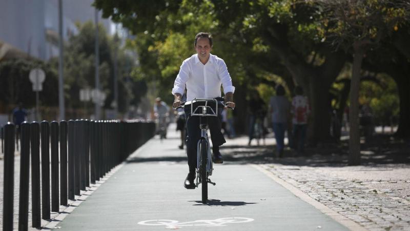 Fernando Medina (PS) em campanha para a Câmara de Lisboa