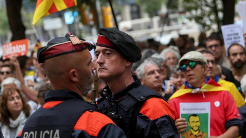 Barcelona - protestos pelo referendo de 1 de outubro