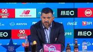 Sérgio Conceição indignado abandona conferência de imprensa