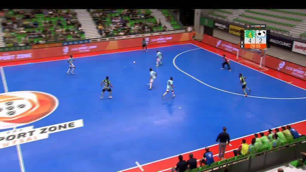 Os golos da vitória do Sporting frente ao Futsal Azeméis (6-3).