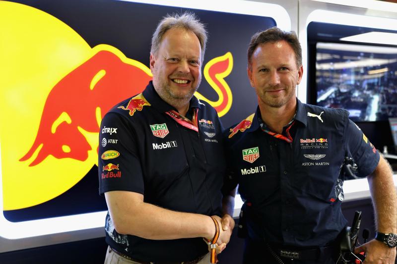 Andy Palmer e Christian Horner