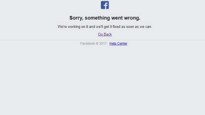Facebook com problemas