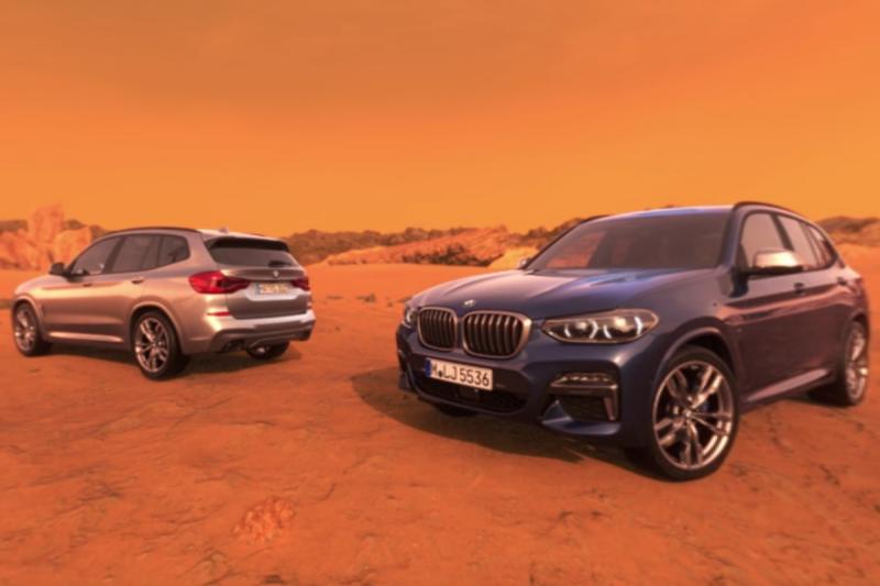 A BMW oferece a possibilidade de fazer um test drive ao novo X3... em Marte