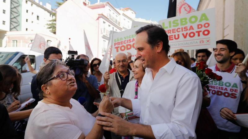 Fernando Medina em campanha eleitoral