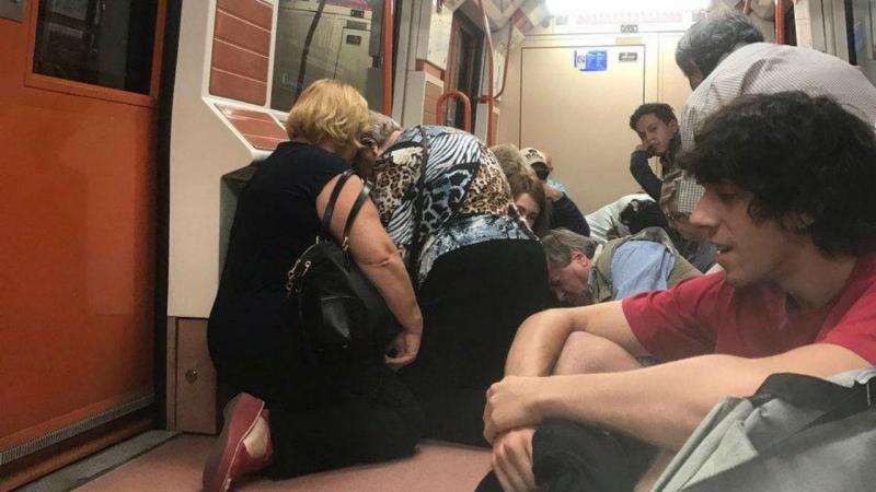 Incidente no metro de Madrid