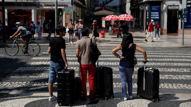 Turistas em Lisboa