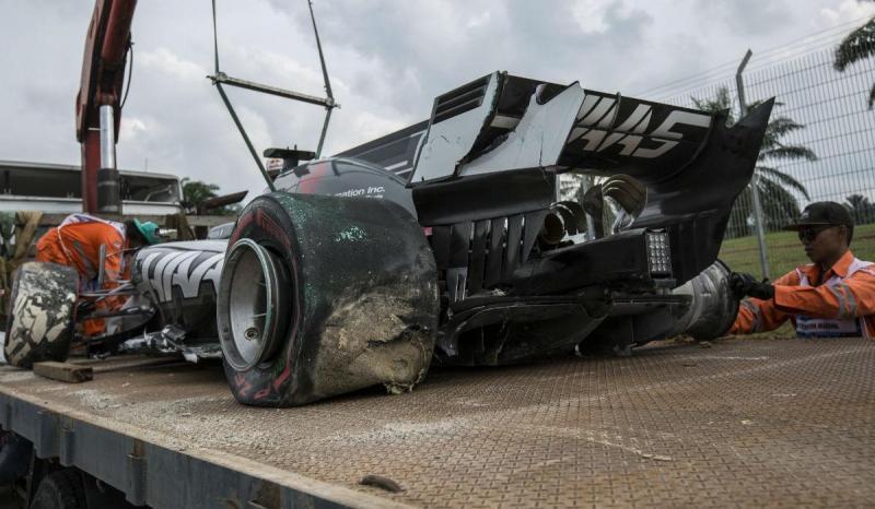 Haas de Romain Grosjean - GP Malásia