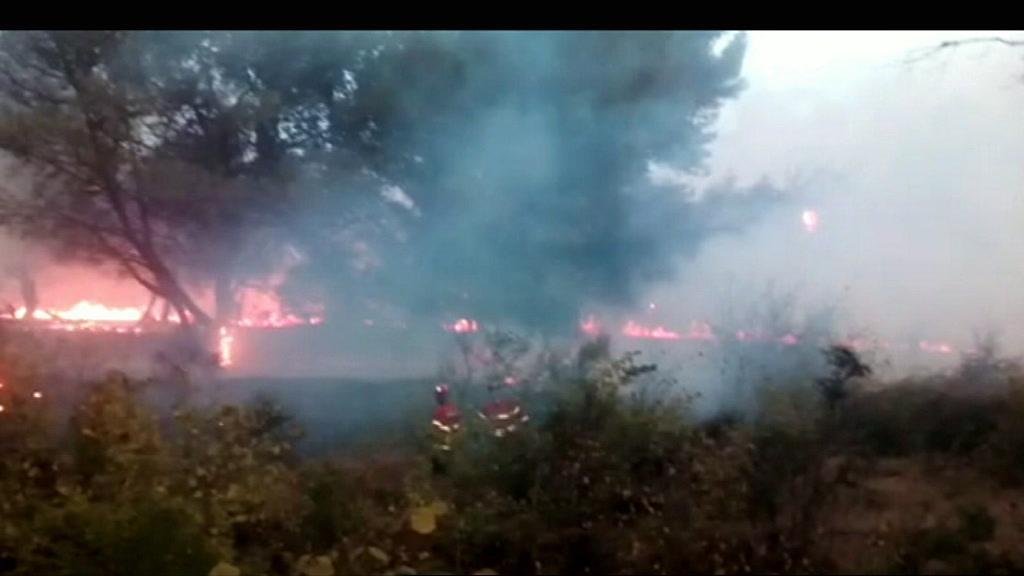 Incêndio deflagrou perto da estação de Carcavelos