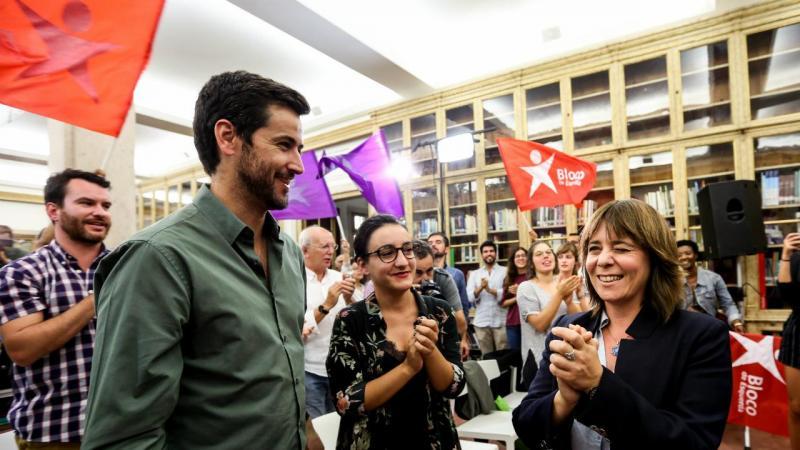 Catarina Martins com Ricardo Robles