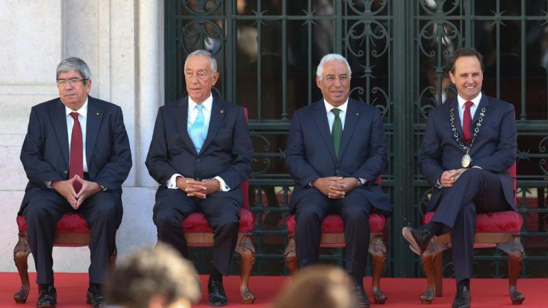 Ferro Rodrigues, Marcelo Rebelo de Sousa, António Costa e Fernando Medina