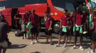 Seleção voou para Andorra em avião militar