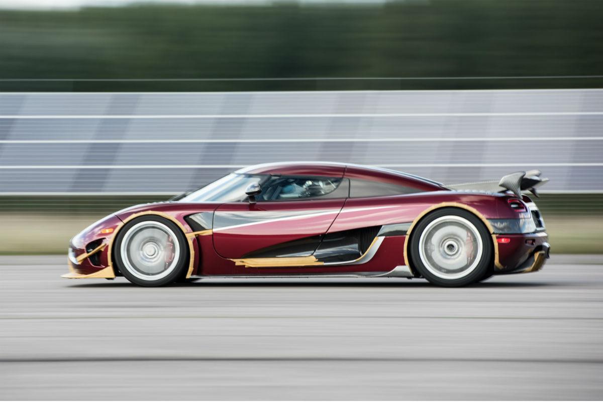 Agera RS bate recorde 0-400-0 km/h (imagem Koenigsegg)