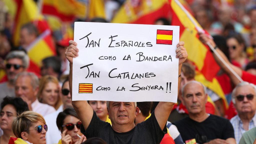 Manifestação contra a independência da Catalunha