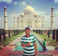 Pedro Guerra no Taj Mahal (Índia)