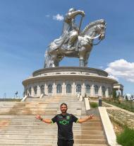 Pedro Guerra na Mongólia
