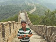 Pedro Guerra na Muralha da China