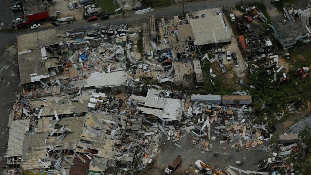 O cenário devastador deixado pelo furacão Maria em Porto Rico