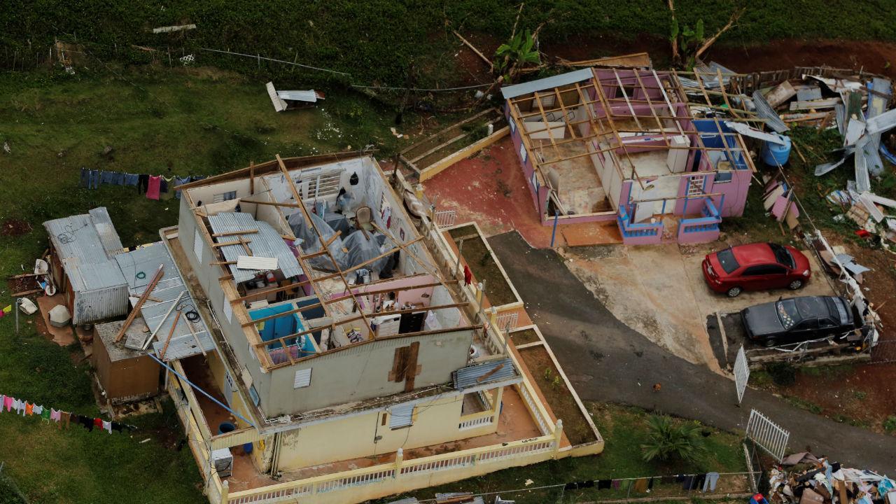A destruição causada pelo furacão Maria em Porto Rico