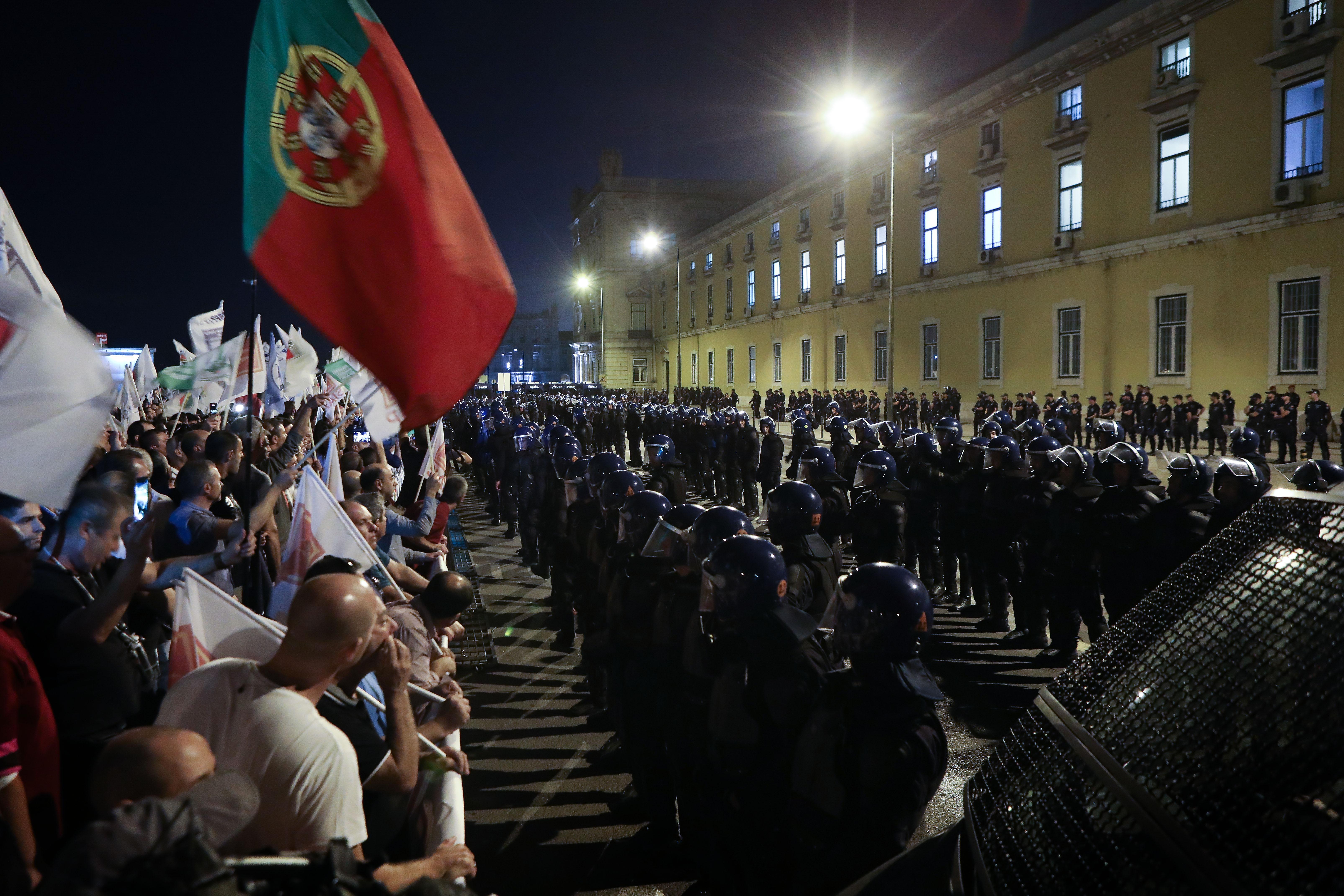 Manifestação das forças de segurança