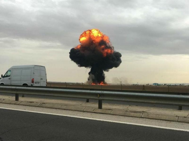 F18 despenha-se em Madrid