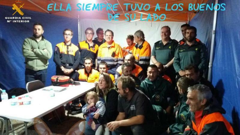 Criança  de dois anos encontrada pela Guardia Civil - Ávila (Espanha)