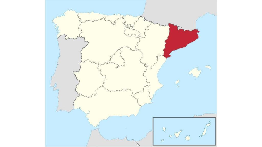 A Catalunha no mapa