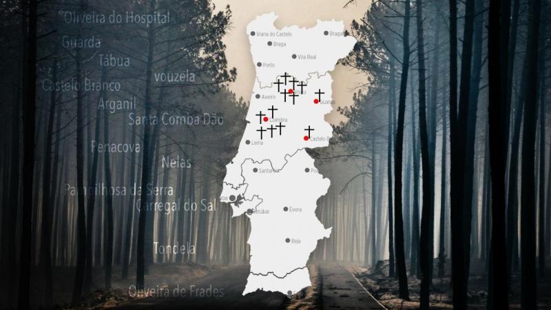 Mapa das vítimas