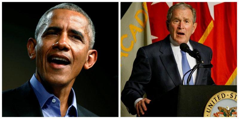 Obama e Bush