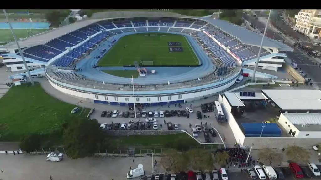 Vista aérea do Estádio do Restelo