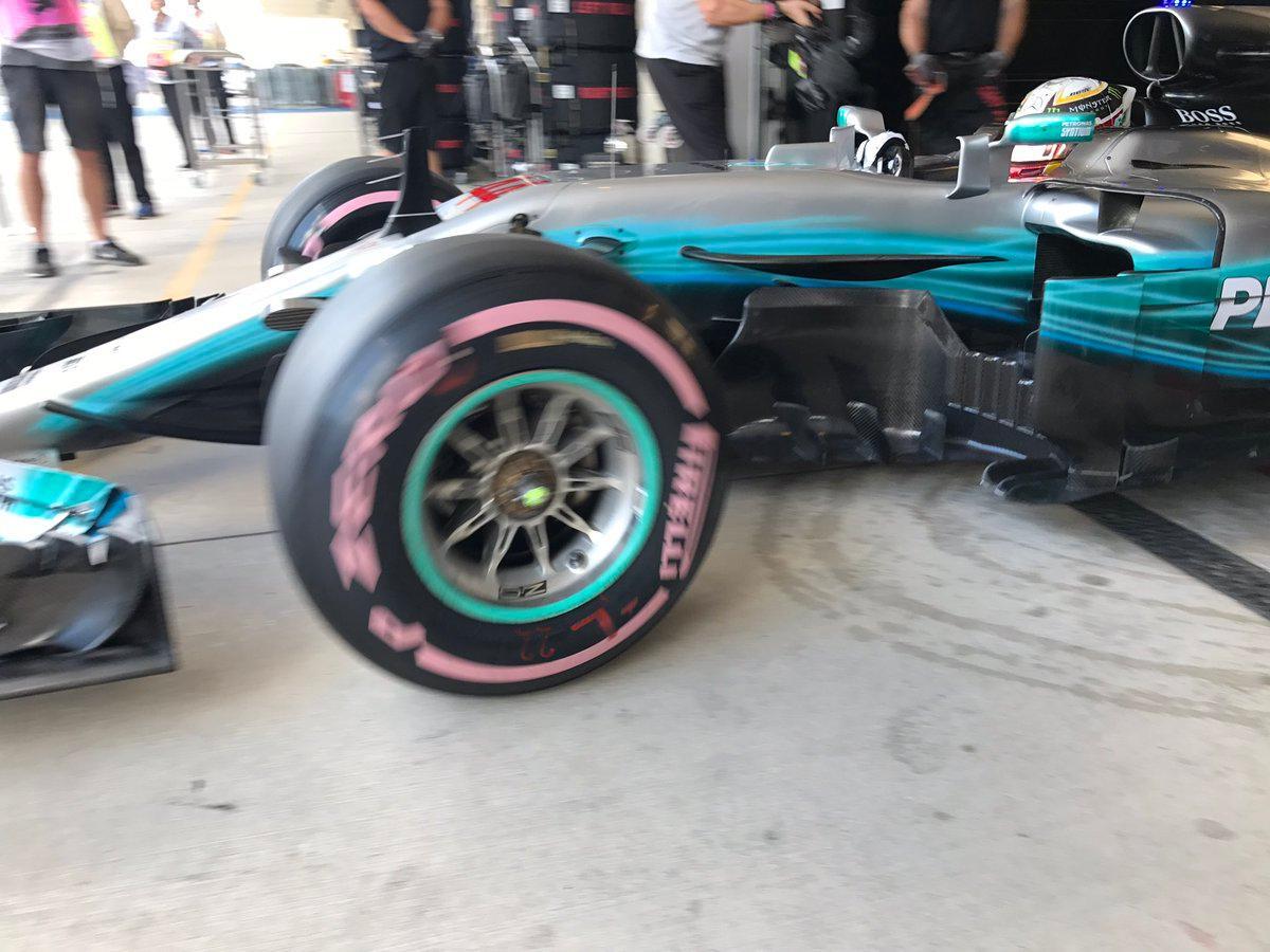 F1 veste cor de rosa por boa causa