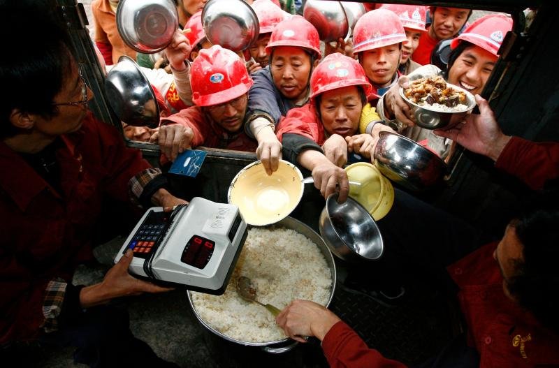 China - Arroz (Almoço de trabalhadores em Sichuan)