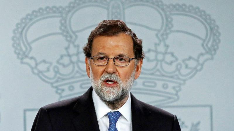Mariano Rajoy em declaração ao país