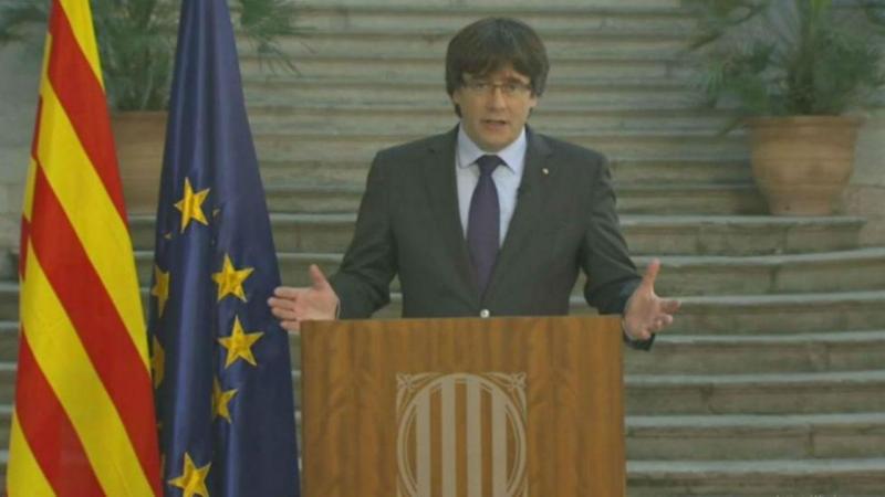 Puigdemont recusa afastamento e quer catalães a fazer