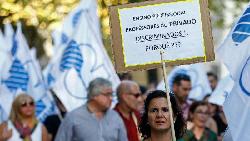 Professores do privado protestam em Lisboa