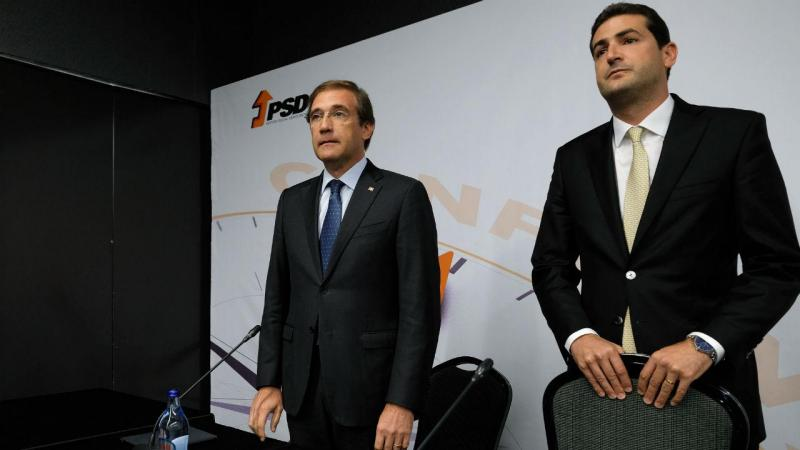 Passos Coelho e Hugo Soares