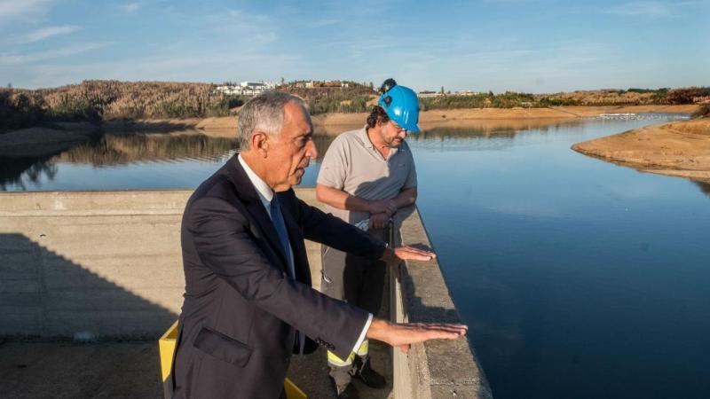 Marcelo Rebelo de Sousa na barragem da Aguieira