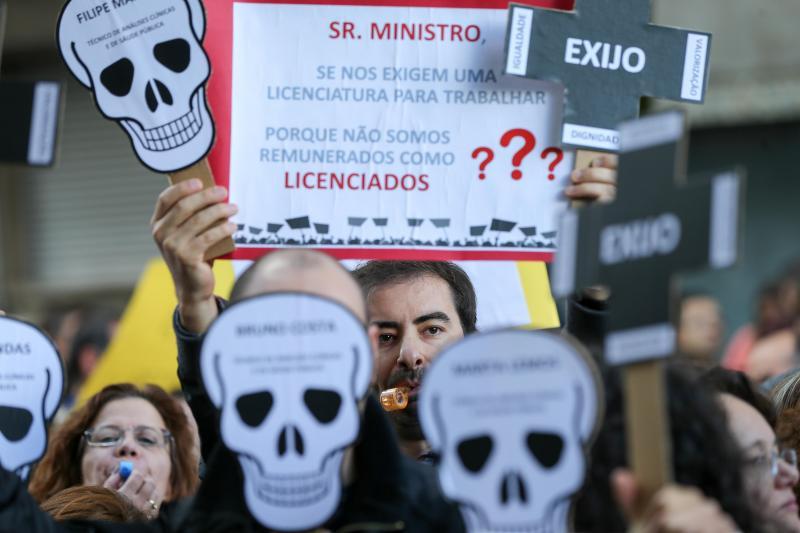 Protesto dos técnicos de diagnóstico