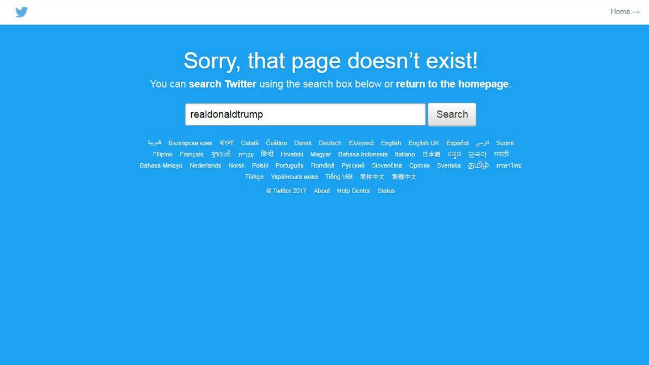 Conta de Trump no Twitter desapareceu por alguns minutos