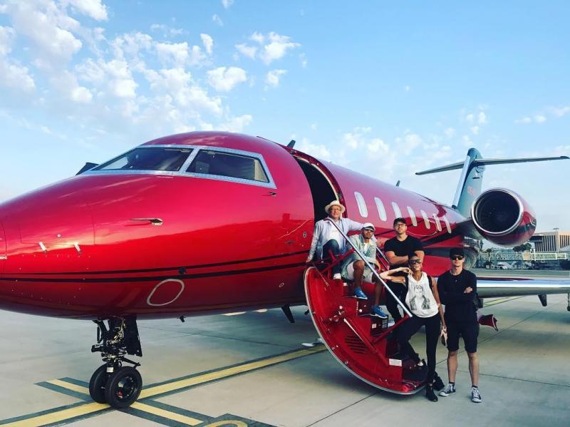 Jato de Lewis Hamilton (Instagram Lewis Hamilton)