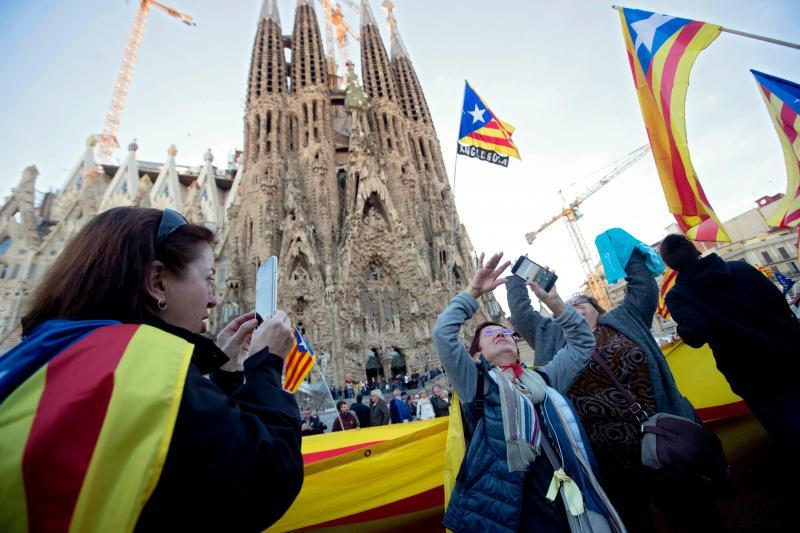 Manifestação em Barcelona