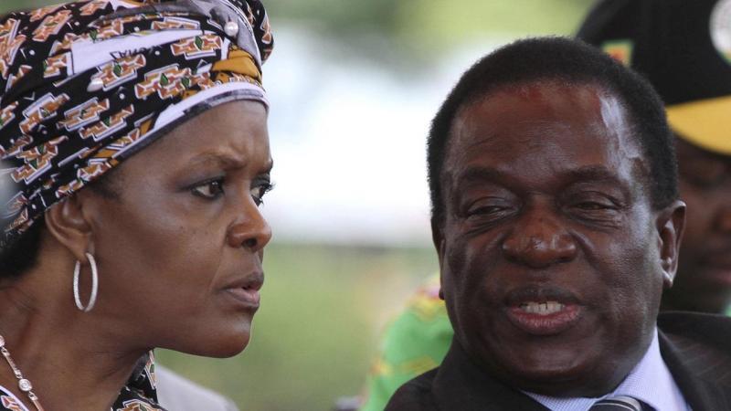 Grace Mubage e Emmerson Mnangagwa