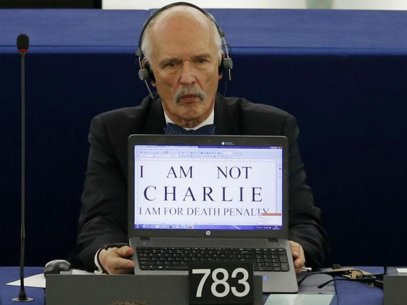 Eurodeputado polaco Janusz Korwin-Mikke