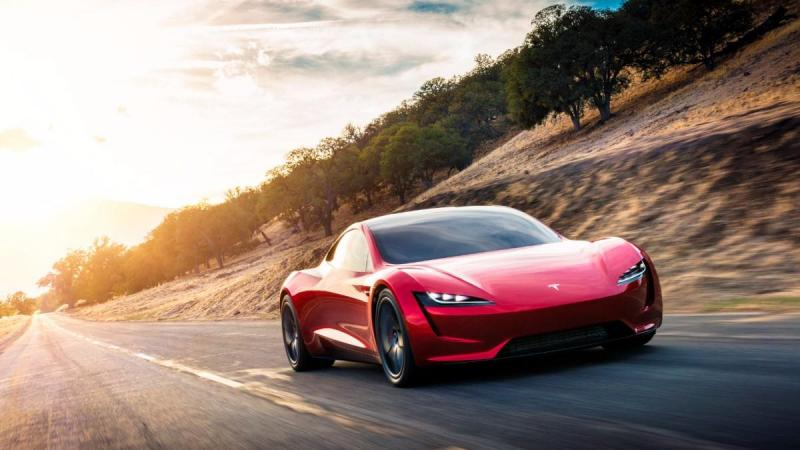 Tesla Roadster (via Reuters)