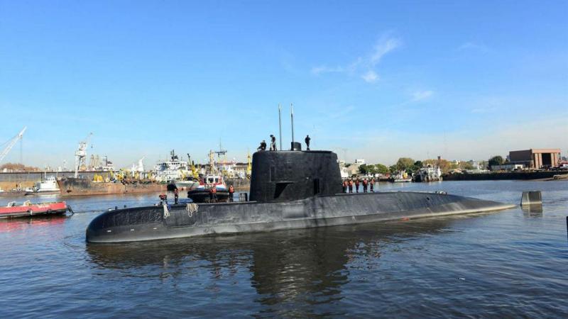 Submarino ARA San Juan em Buenos Aires, Argentina, em junho de 2017