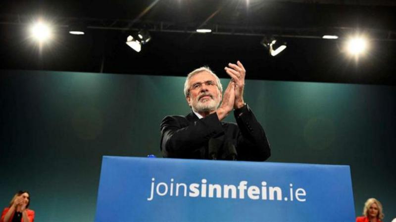 Gerry Adams, líder do Sinn Féin